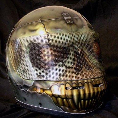 Airbrushed Helmets Skull Skidder Helmets Artistic Soul