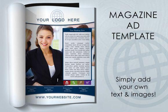 magazine ad template  creativework247