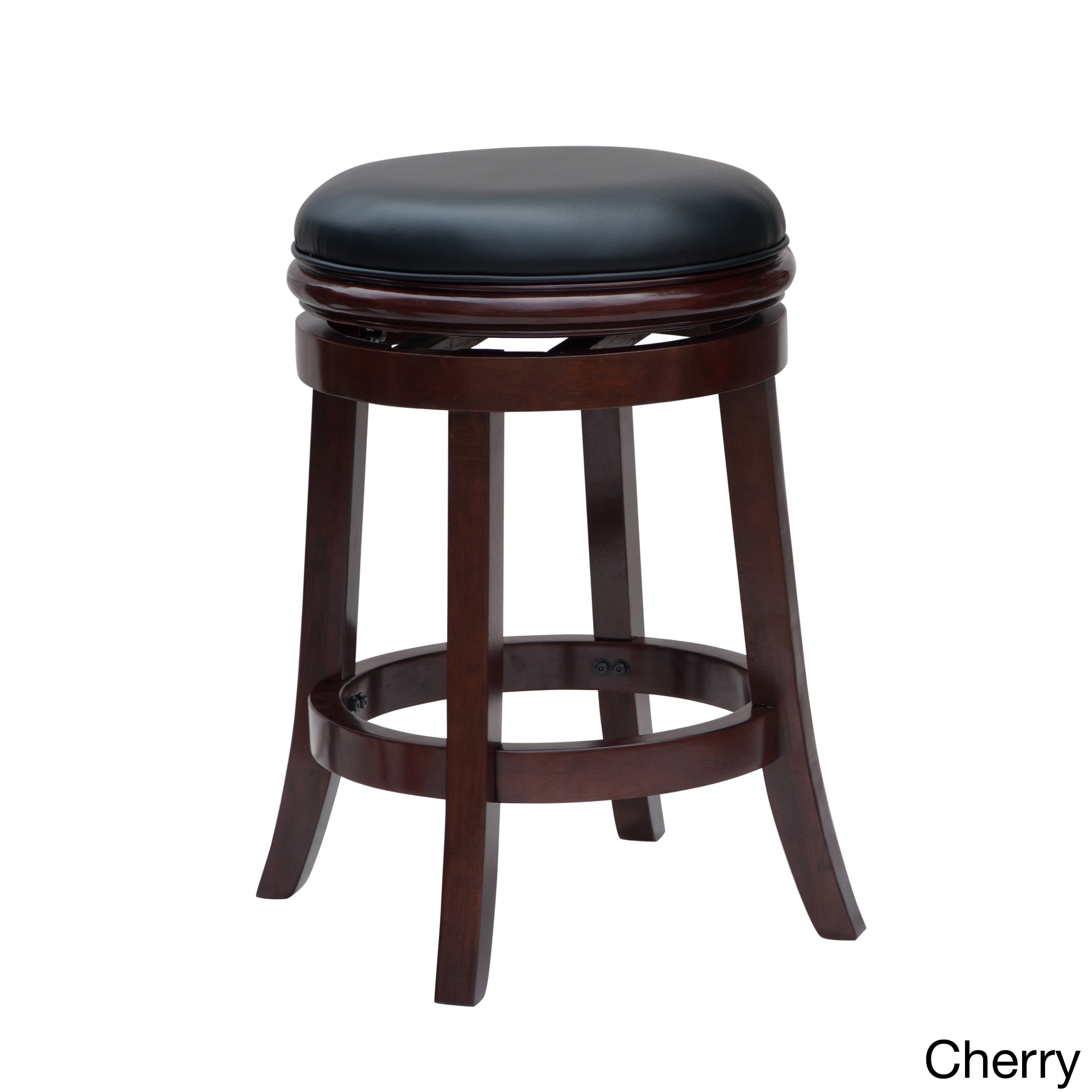Boraam 24 Inch Backless Counter Stool Cherry Red Cherry Finish