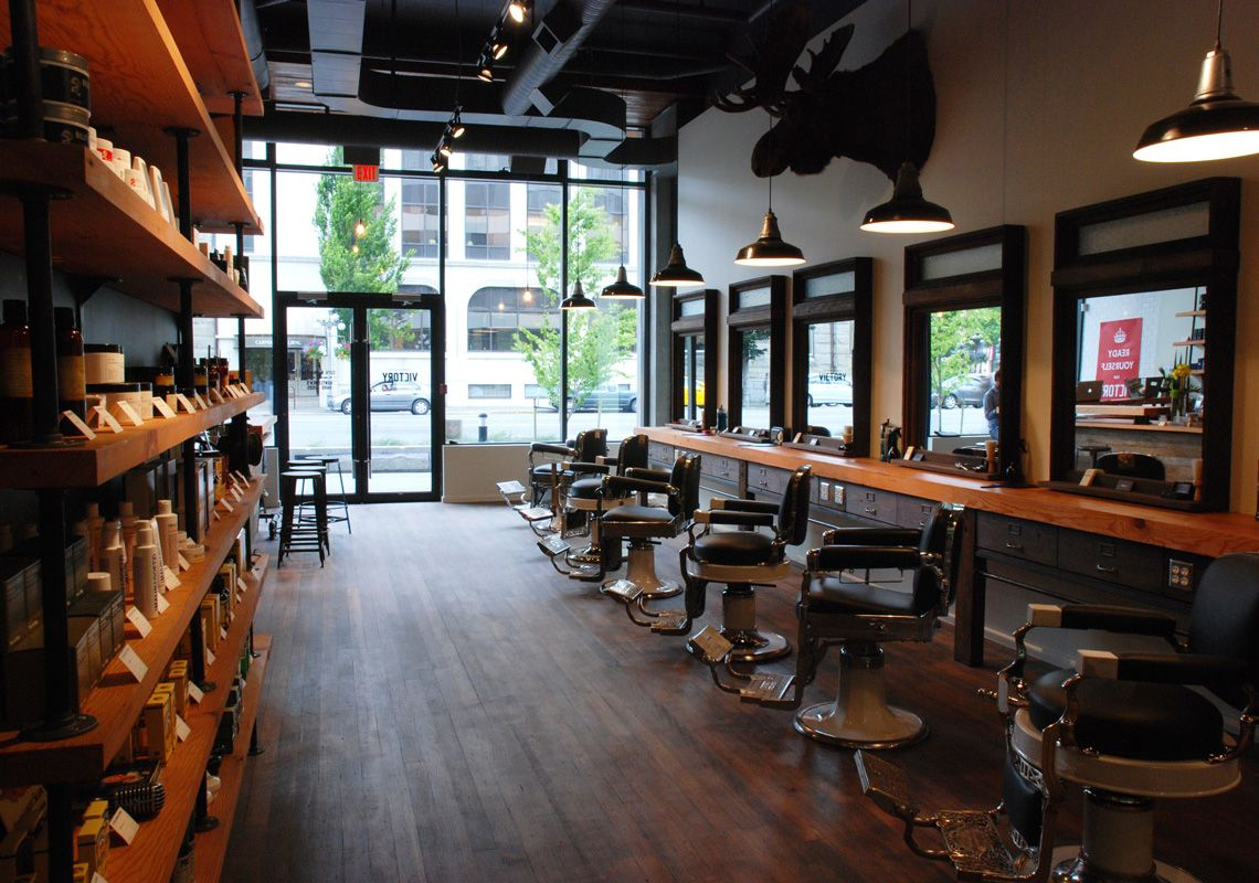 VICTORY BARBER & BRAND: INTERIOR - Caste   Barber shop ...