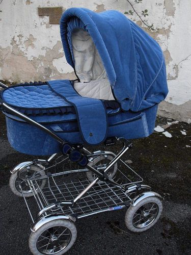 Silver Cross Pram Pushchair On Classic Chrome Folding Chassis