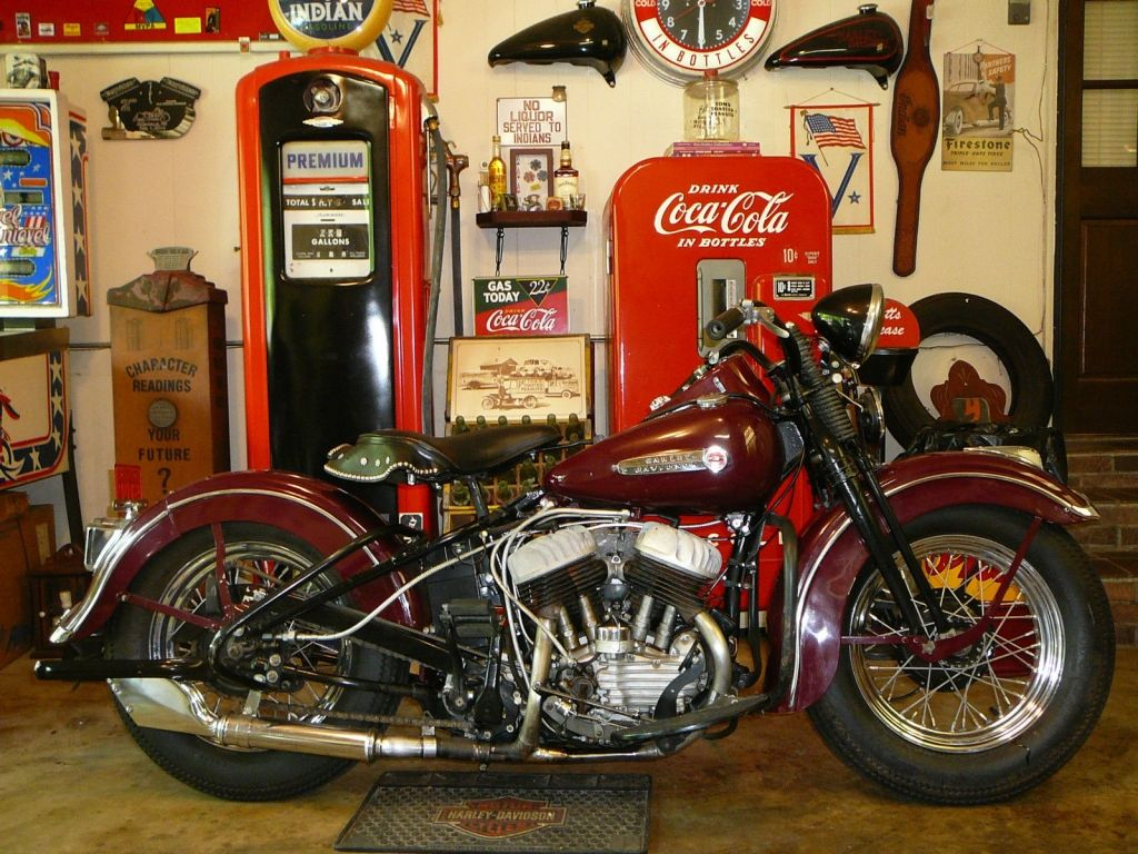 1949 Harley-Davidson WL 45 Twin Burgundy Color Firestone  ca3c1b298