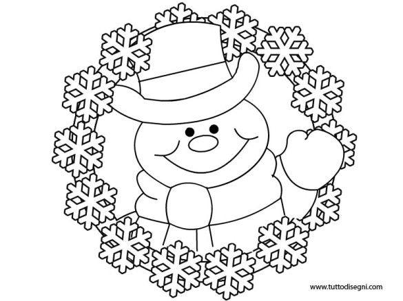 Disegni Da Colorare Invernali.Disegni Inverno Ghirlanda Da Colorare Disegni Disegni Da Colorare Inverno
