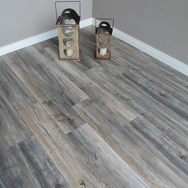 Robusto 12mm Harbour Oak Grey Laminate Flooring In 2020 Grey Laminate Flooring Living Room Wood Floor Grey Laminate