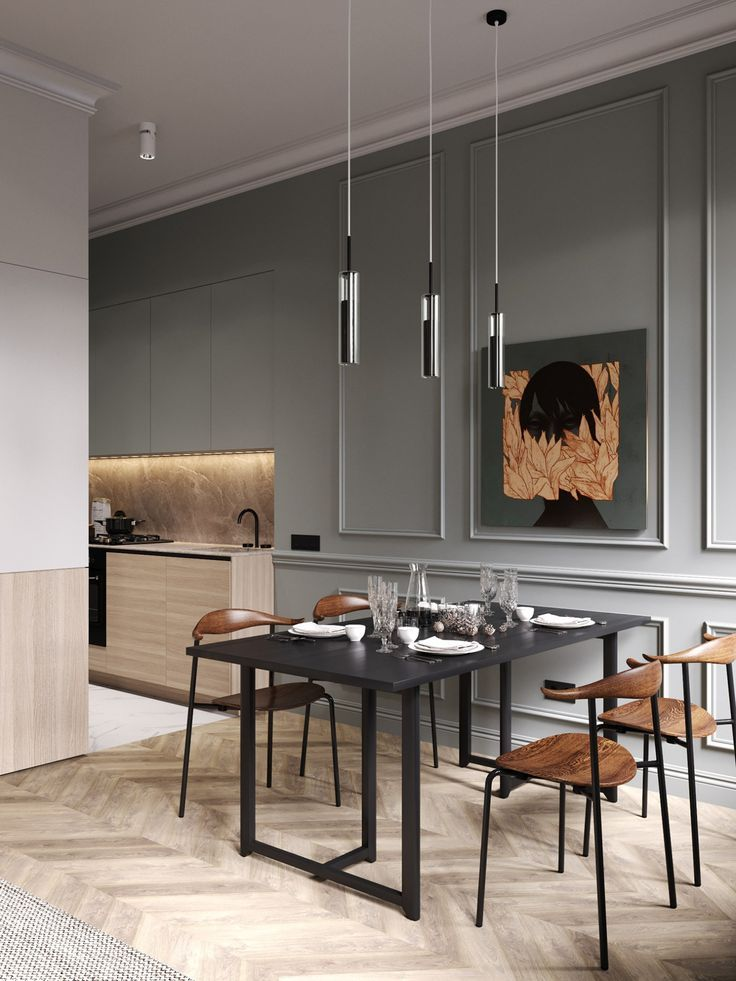 Ein schickes klassisches Appartement von Cartelle Formgebung
