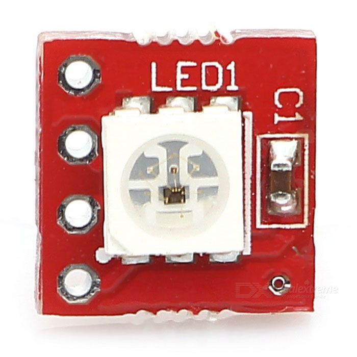 KEYES MD0312 KEYES-2812-1bit Full Color 5050 RGB LED Module - Red. Find the cool gadgets at a incredibly low pr