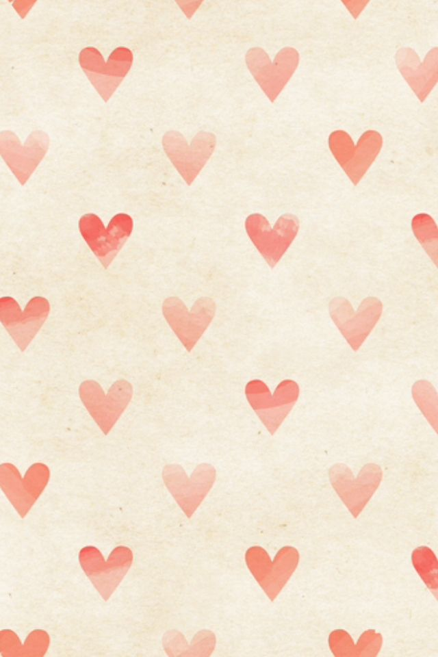 Seamless Watercolor Heart Pattern On Paper Texture Valentine S Day Background Heart Iphone Wallpaper Pattern Wallpaper Heart Wallpaper