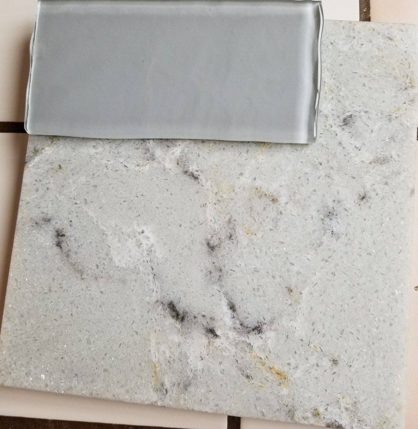 Allen Roth Quartz Countertops Allen And Roth Quottitanium Swell Quot Quartz Countertop And Gray