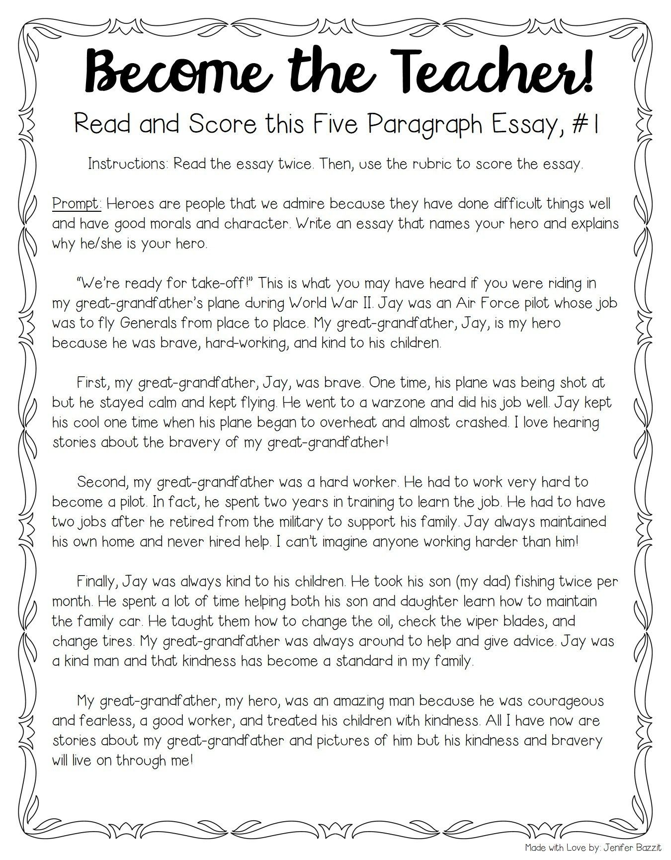 Tips For Teaching And Grading Five Paragraph Essays