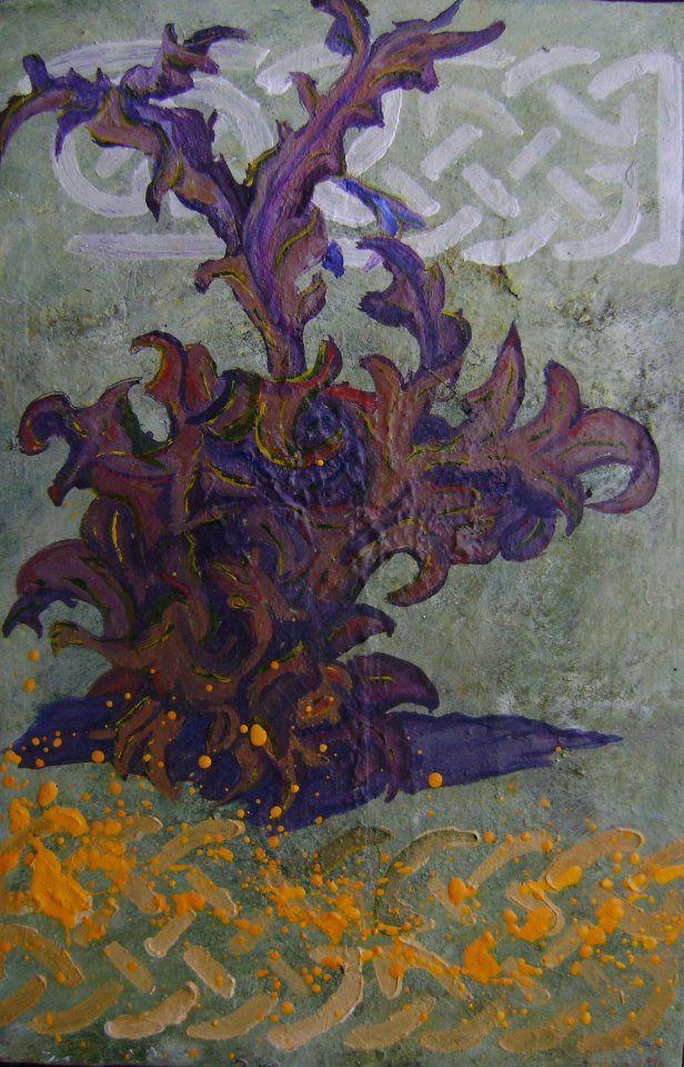"""Alejandro Vizcarra """"Hierba"""". 35cm x 25cm aprox óleo/tela."""