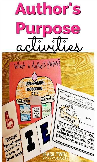 Author 39 S Purpose Part Two Worksheets Purpose And