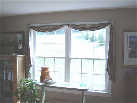 landscape swags living town easy sew curtain see it no swag burlap farmhouse dining room curtains in how country