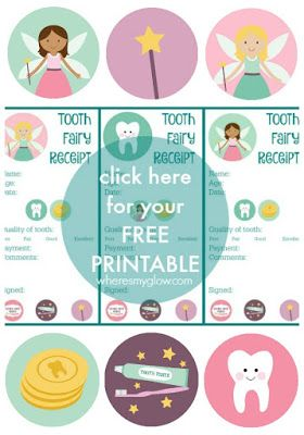 Where's My Glow? : Mind the gap (tooth smile) - with free printable tooth fairy receipt #toothfairyideas