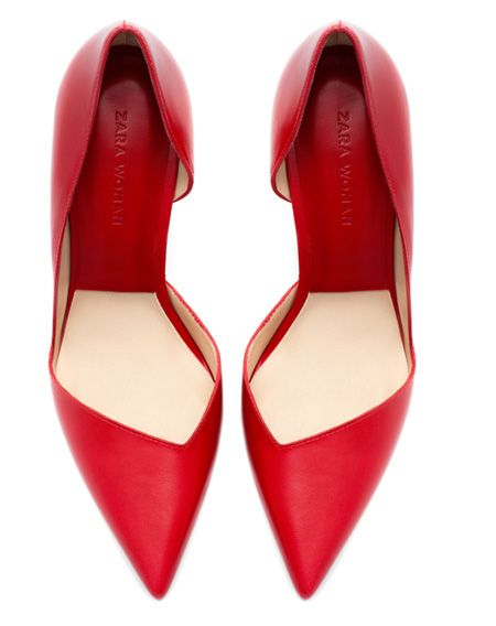 3f00aa53a6c Zara red asymmetric pumps