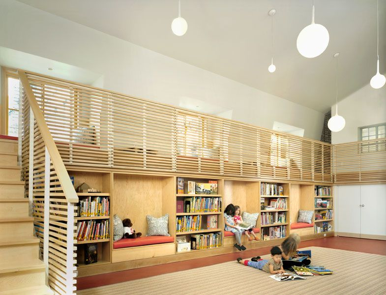 GraceChurch School Library nyc CWB Architects reading bays