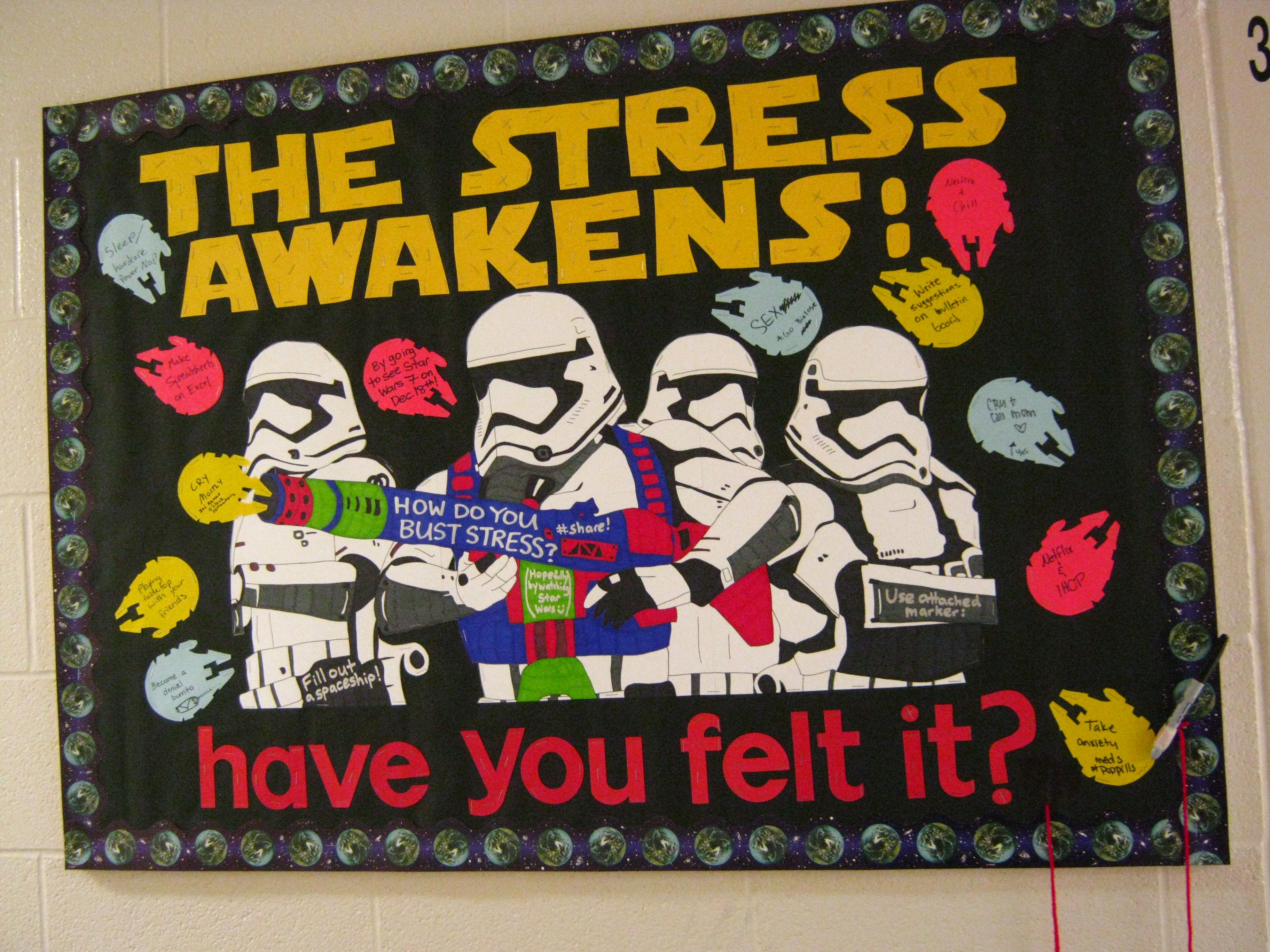 Resident Assistant College Bulletin Board Star Wars  Resident