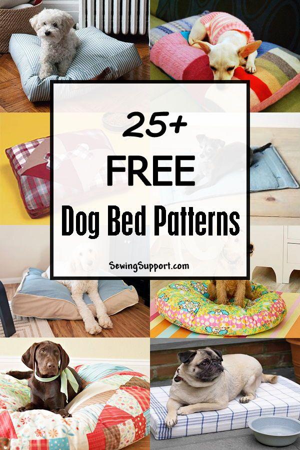 Dog Bed Diy 25+ Free Dog Bed Patterns Diy dog bed, Dog