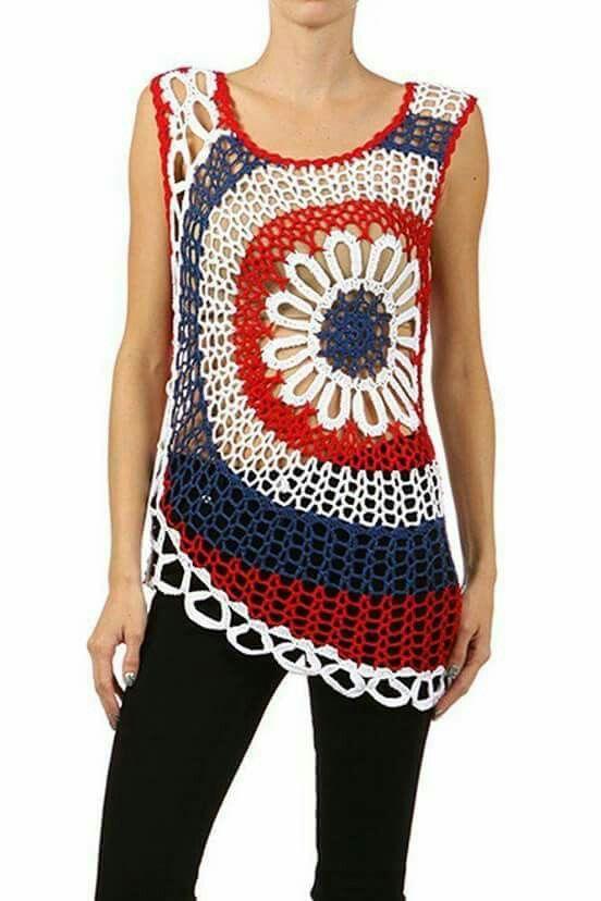 Pin de Pauline Lim en crochet Poncho and blouse pattern | Pinterest ...