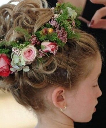 Brilliant 1000 Images About Flower Girl Hairstyles On Pinterest Teen Short Hairstyles Gunalazisus