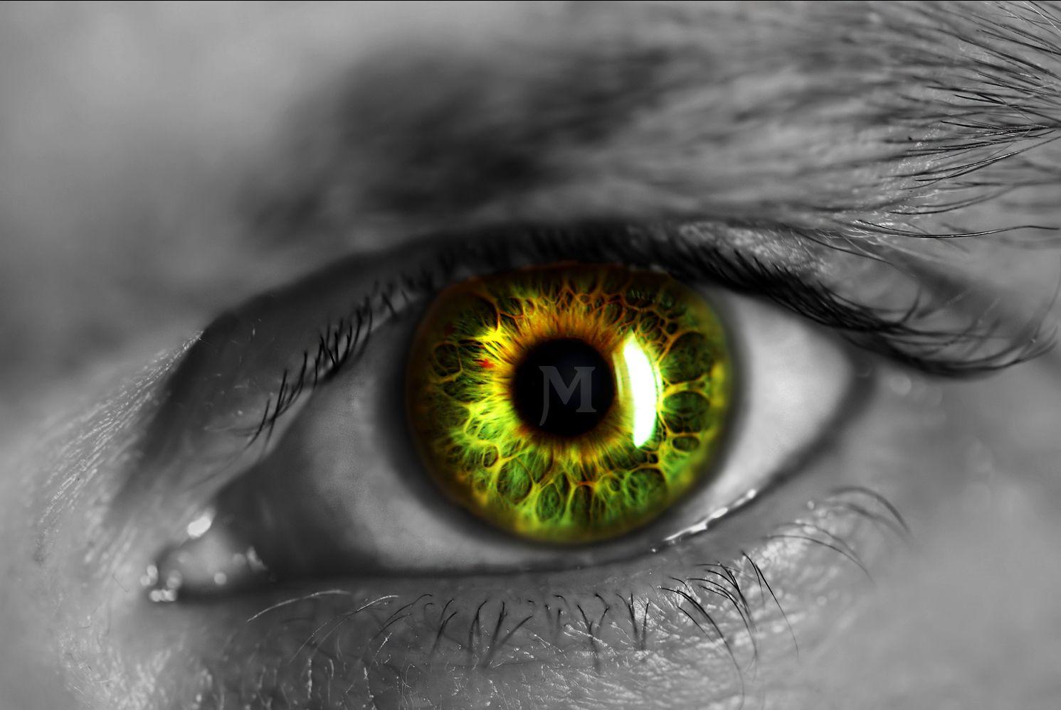 Hd wallpaper man - Men Eye Maria Horta Green Man Light Rays Dark Hd Maria Wallpaper