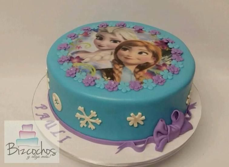 Frozen Simple Cake Craftsy With Images Easy Frozen Cake