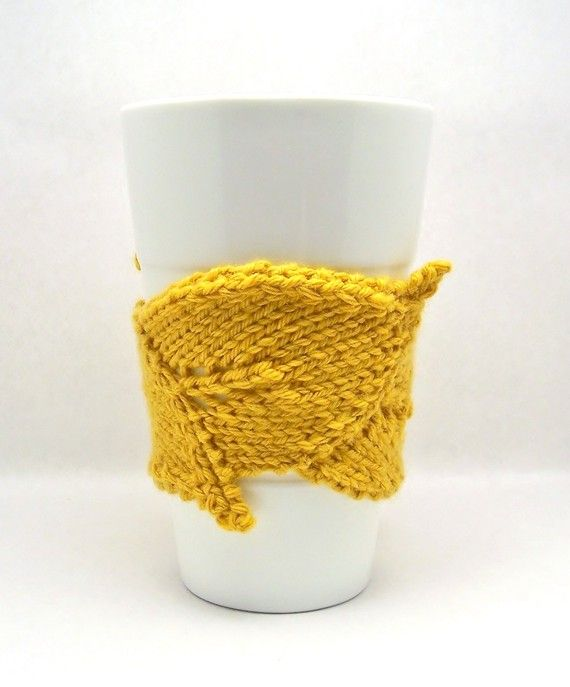 The Original Leaf Cup Cuddler | Knitting | Pinterest | Hechos y Tejido