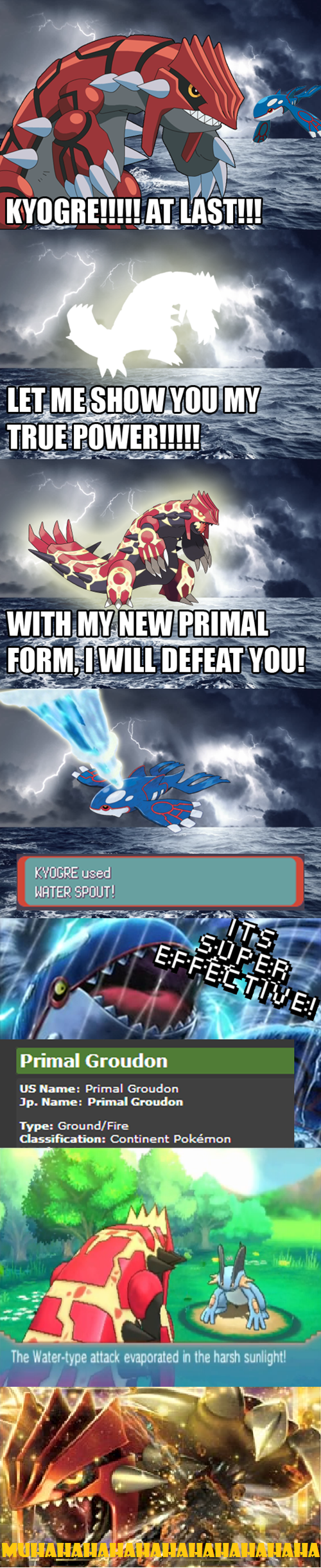 It works the opposite way too. ;) <- yes, but what idiot is gonna attack Kyogre with flamethrower