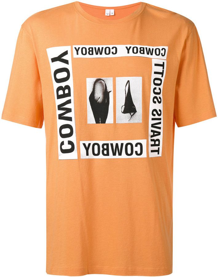 7ce687455338 Helmut Lang x Travis Scott printed T-shirt   Products   Shirts ...