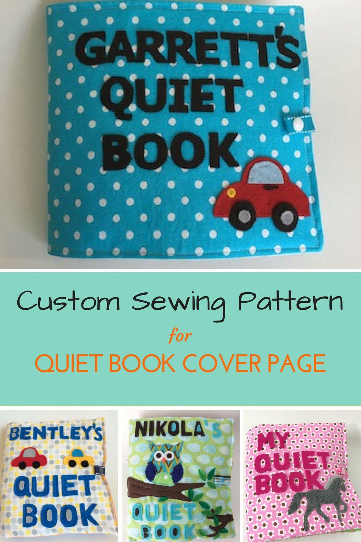 Custom Pdf Quiet Book Cover Pattern Custom Pdf Quiet Book Page