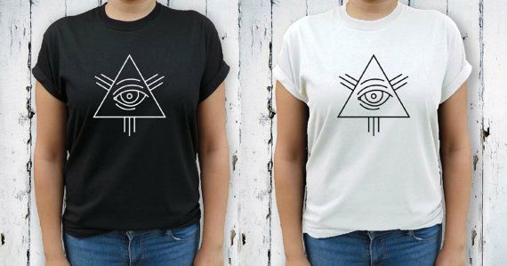 All Seeing Eye T-Shirt Alumni Tee Pagan Tee by TheHenCompany