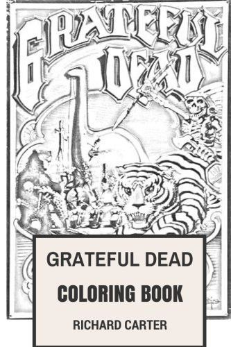 grateful dead coloring book californian rock band american legends jerry garcia and bob weir inspired adult coloring book products pinterest bob weir - Grateful Dead Coloring Book
