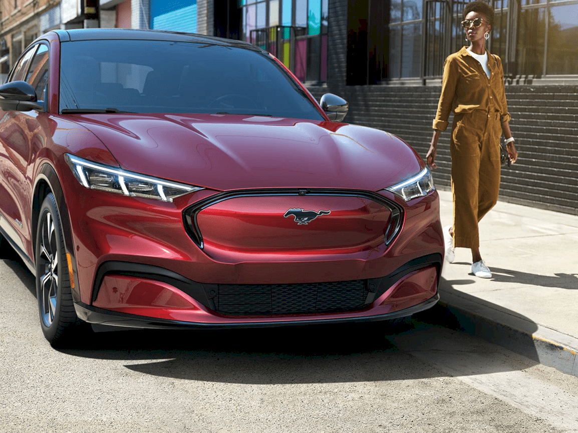 The Rising Of Tesla In The Market Seems To Have Disturbed Ford The American Carmaker Is Scraping To Grab The Emerging El In 2021 Mustang Bmw Electric Car Ford Mustang