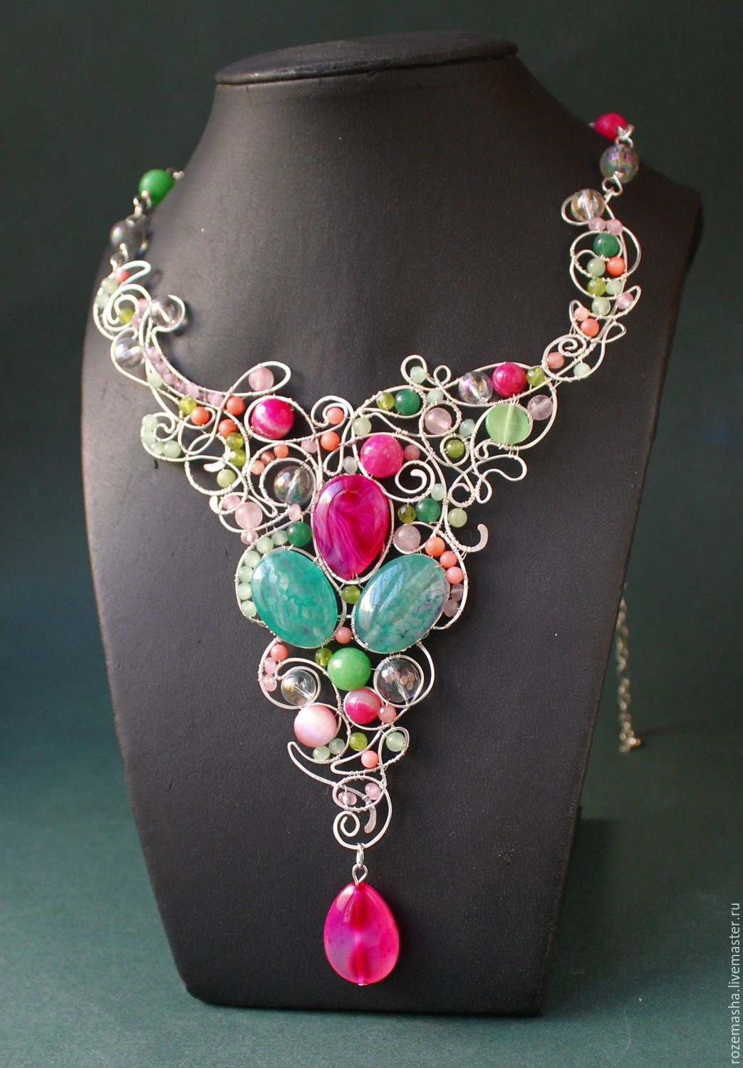 e7856774d3f06 Necklaces & Beads handmade. Order necklace tenderness. color of magic.  Livemaster. Art nouveau, exclusive gift