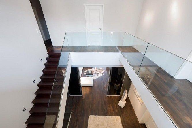 Glass Staircase Railing Barrier At Villa Potsdam Kleinmachnow