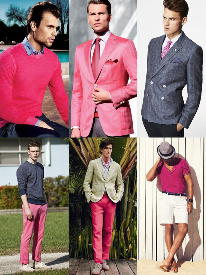 Men's 2014 Spring/Summer Shades Of Red Colour Trend: Hot Pink Lookbook Inspiration