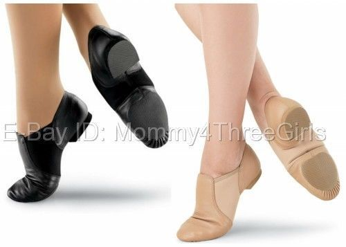 Details about NEW Capezio Balera Slip on Leather Jazz Shoes