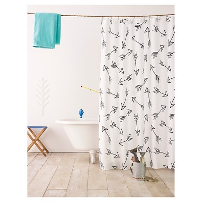 Black Arrow Shower Curtain