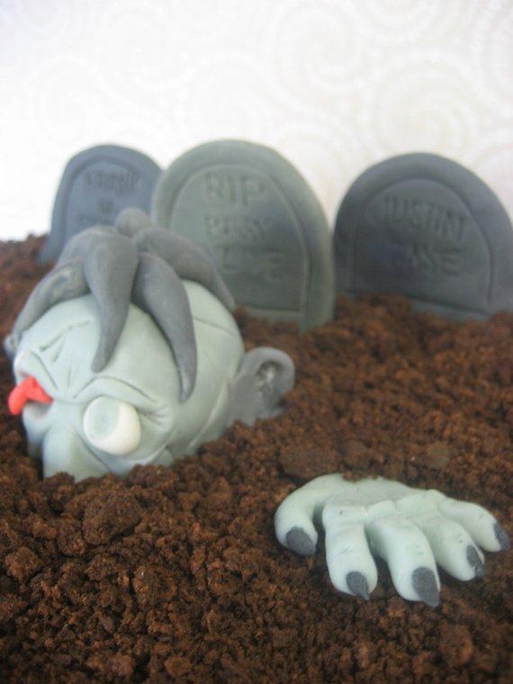 The Walking Dead Cake Topper Zombie Halloween Birthday