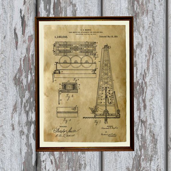 Oil rig print on handmade antique paper technical drawing oil rig print on handmade antique paper technical drawing industrial blueprint poster very nice 83 x 117 a4 steampunk print paper for each print malvernweather Images