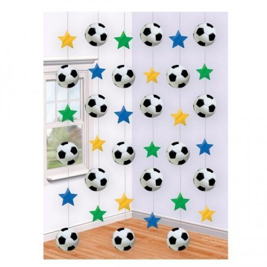 6 Strings Football Decoration Soccer World Cup Hanging Party