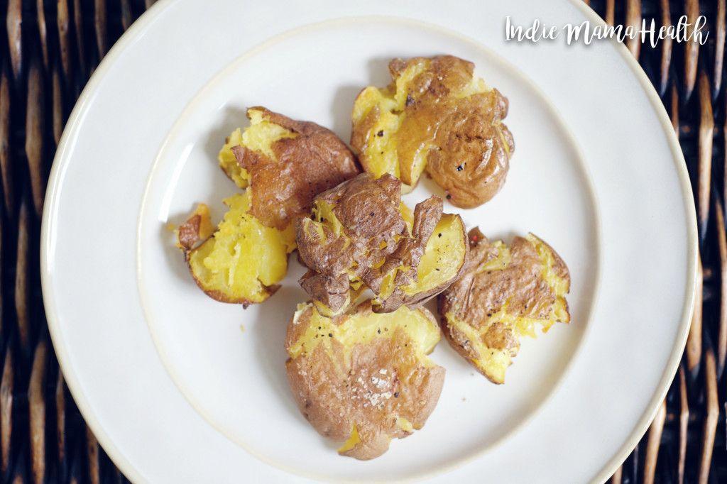 Fun Smashed Potato Bites .:. Gluten-Free & Vegan .:. Indie Mama Health