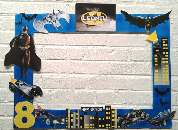 batman frame photo booth photo prop digital by giantfunframes