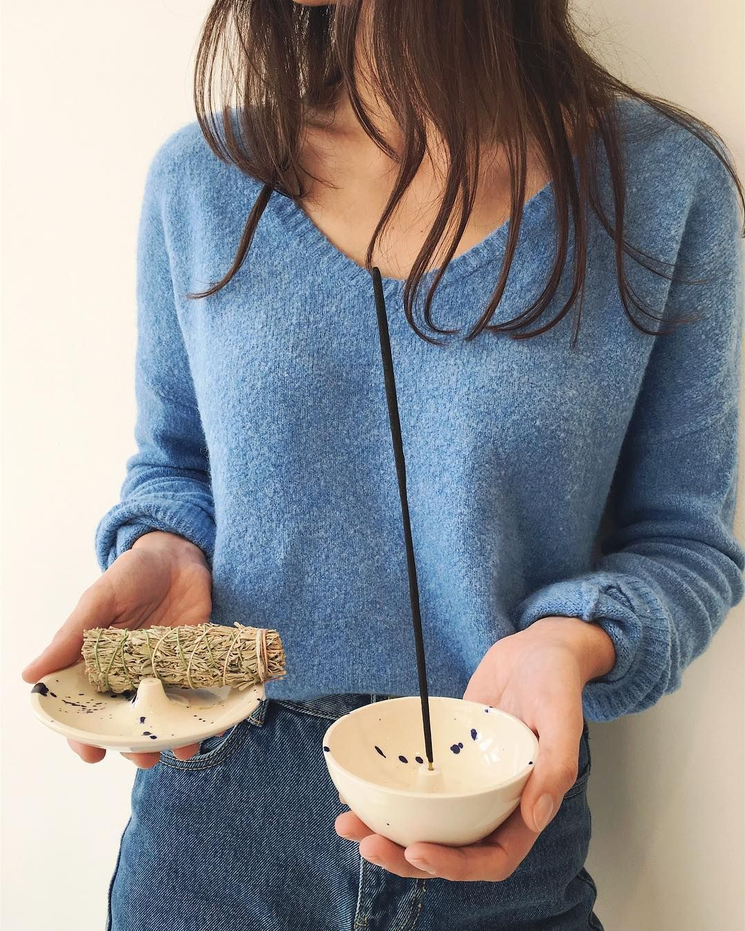 These handmade incense holders from Akai Ceramics are