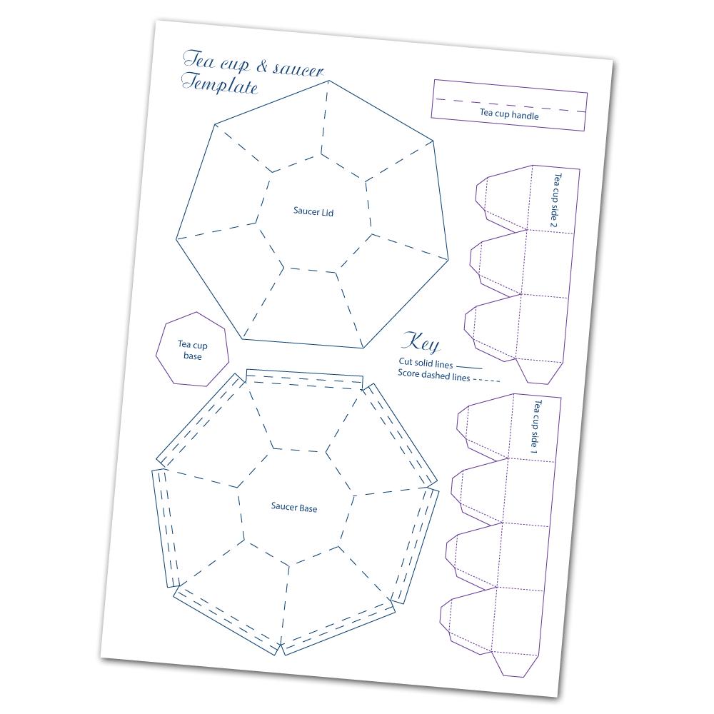 Teacups and Saucer paper cutouts [alice in wonderland] tea
