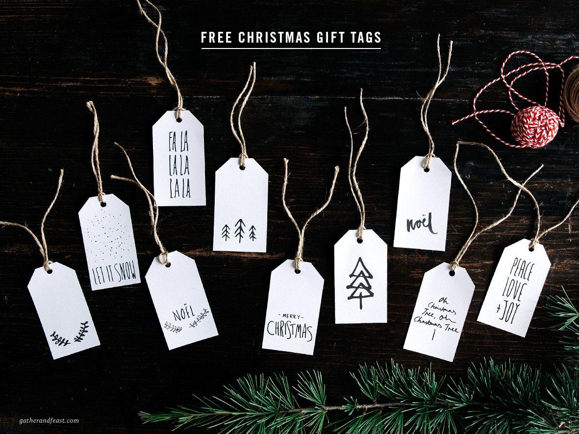Free Christmas Gift Tags  |  Gather