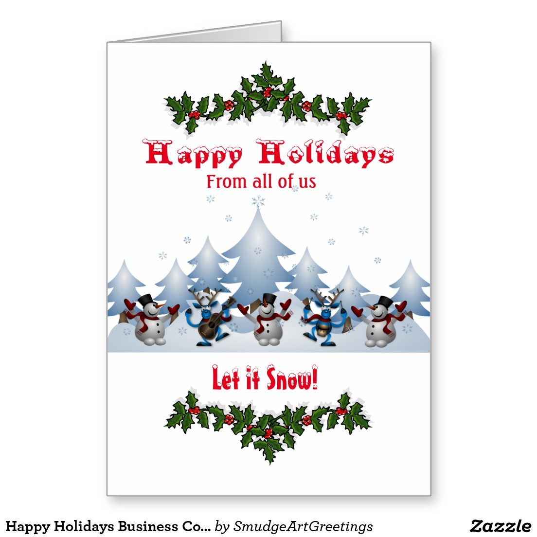 Happy holidays business corporate snowmen reindeer card business happy holidays business corporate snowmen reindeer card m4hsunfo