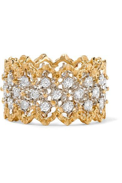 Buccellati Rombi 18-karat Yellow And White Gold Diamond Earrings EAPrfe