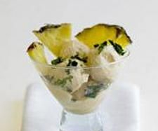 Receita Lâminas de abacaxi com gelado de coco por Equipa Bimby - Categoria da receita Sobremesas