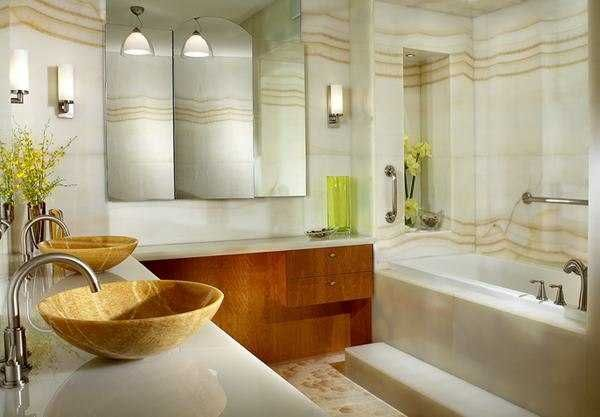 The Awesome Web  Spectacular Modern Bathroom Design Trends Blending Comfort Elegance and Artistic Materials