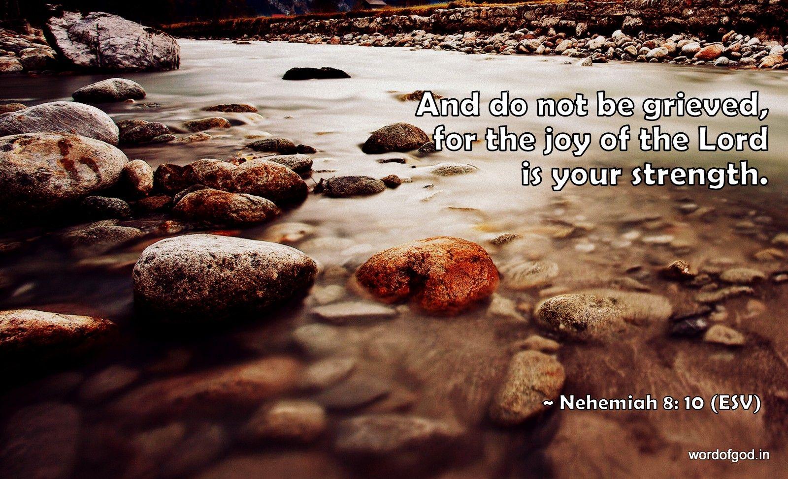 Nehemiah 8: 10   Free Christian Wallpapers
